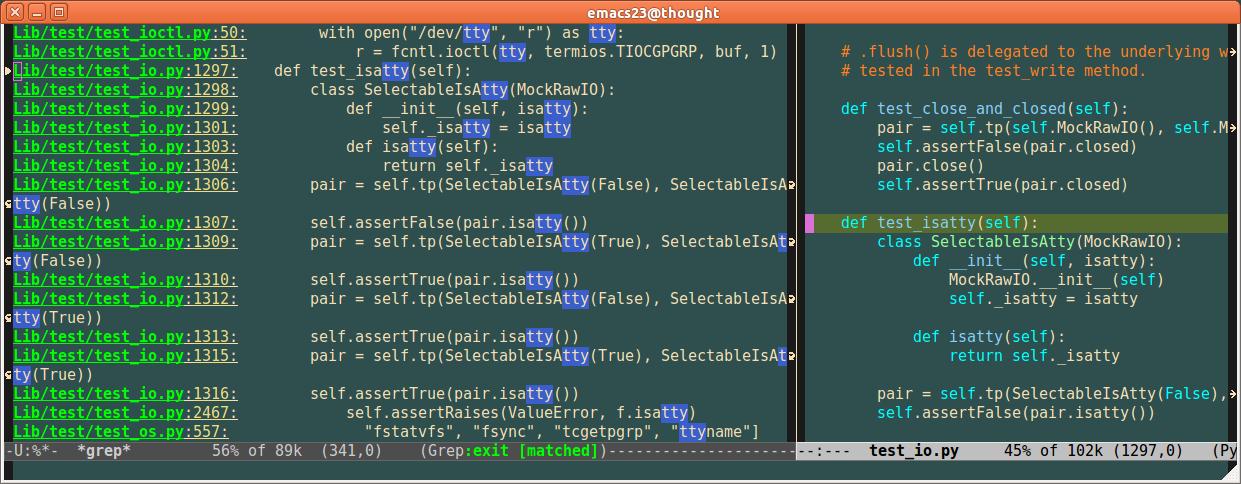 Emacs TTY